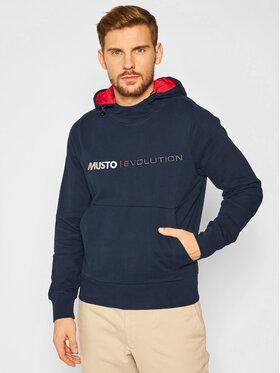 Musto Musto Bluza Evo Logo 82043 Granatowy Regular Fit