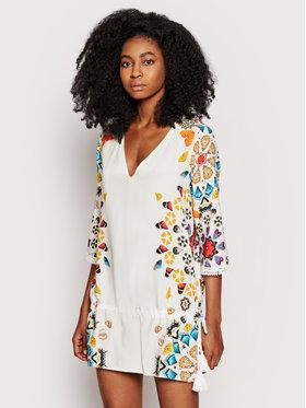 Desigual Desigual Sukienka plażowa Maui 21SWMW21 Biały Regular Fit