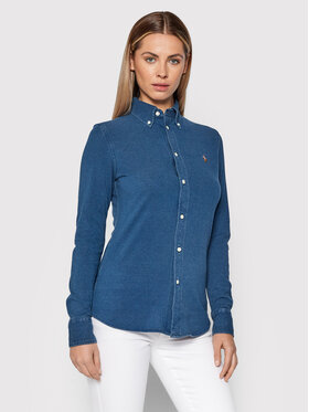 Polo Ralph Lauren Polo Ralph Lauren Marškiniai Oxford 211664427025 Mėlyna Slim Fit