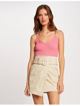 Morgan Morgan Mini sijonas 212-JAMY Smėlio Regular Fit