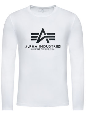 Alpha Industries Alpha Industries Longsleeve Basic T 100510 Weiß Regular Fit