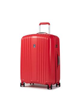 Dielle Dielle Közepes keményfedelű bőrönd 120/60 Piros