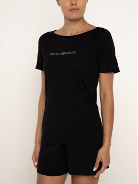 Emporio Armani Underwear Emporio Armani Underwear Marškinėliai 164270 9P254 00020 Juoda Regular Fit
