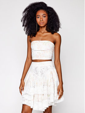 IXIAH IXIAH Ensemble blouse et jupe IX22-60144 Blanc Regular Fit