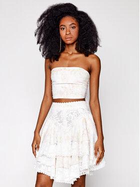 IXIAH IXIAH Σετ μπλουζάκι και φούστα IX22-60144 Λευκό Regular Fit