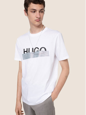 Hugo Hugo T-Shirt Dicagolino U204 50436413 Weiß Regular Fit