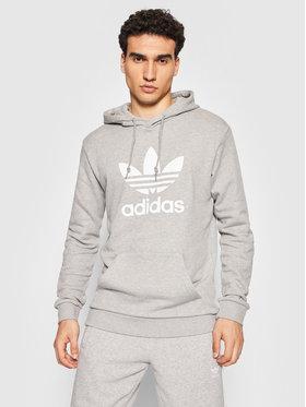 adidas adidas Bluză adicolor Classics Trefoil H06669 Gri Regular Fit