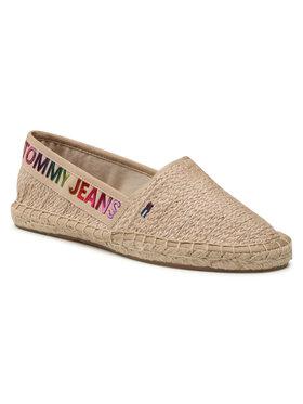 Tommy Jeans Tommy Jeans Espadryle Rainbow Branding Espadrille EN0EN01287 Beżowy