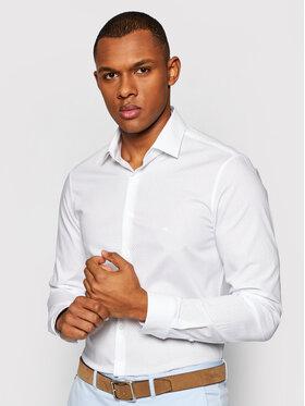 Calvin Klein Calvin Klein Hemd Dot Print Easy Care K10K106680 Weiß Slim Fit