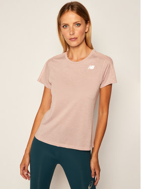 New Balance New Balance Funkčné tričko Impact Run Ss NBWT01234 Ružová Slim Fit