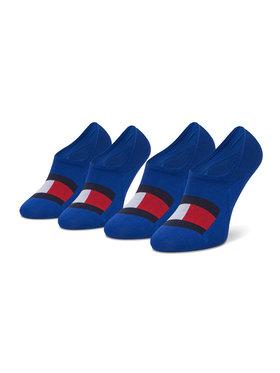 Tommy Hilfiger Tommy Hilfiger Set de 2 perechi de șosete scurte pentru bărbați 100002662 Albastru