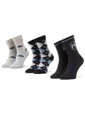 Mayoral Mayoral Σετ κοντές κάλτσες παιδικές 3 τεμαχίων 10831 Σκούρο μπλε