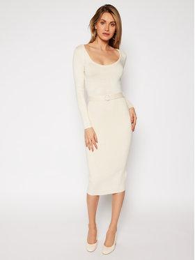 Guess Guess Φόρεμα υφασμάτινο W0RK42 R0SM1 Μπεζ Slim Fit