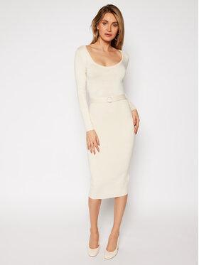 Guess Guess Sukienka dzianinowa W0RK42 R0SM1 Beżowy Slim Fit