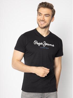 Pepe Jeans Pepe Jeans T-Shirt Eggo V PM501389 Černá Regular Fit