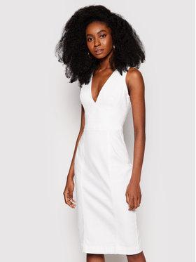Guess Guess Džínsové šaty W1GK17 D4DN1 Biela Regular Fit