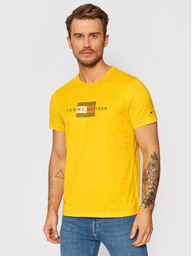Tommy Hilfiger Tommy Hilfiger T-Shirt Lines MW0MW20164 Žlutá Regular Fit