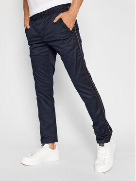 Tommy Hilfiger Tommy Hilfiger Spodnie materiałowe Bleecker Side Tape MW0MW18810 Granatowy Slim Fit