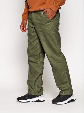 HUF HUF Pantaloni di tessuto Boyd PT00161 Verde Oversize
