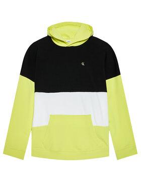 Calvin Klein Jeans Calvin Klein Jeans Суитшърт Colour Block Logo IB0IB00807 Жълт Regular Fit