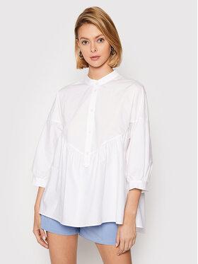 Rinascimento Rinascimento Блуза CFC0103149003 Бял Relaxed Fit