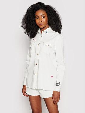Femi Stories Femi Stories camicia di jeans Mida Bianco Regular Fit