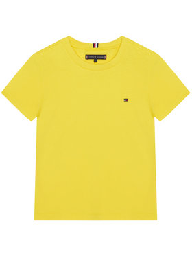 TOMMY HILFIGER TOMMY HILFIGER T-Shirt Essential KB0KB06130 D Żółty Regular Fit