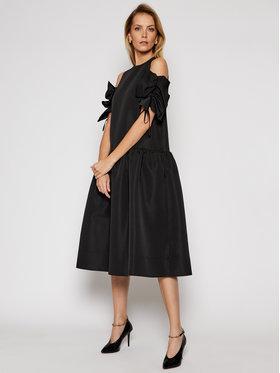 Victoria Victoria Beckham Victoria Victoria Beckham Коктейлна рокля Compact Poly Faille 2121WDR002324A Черен Regular Fit