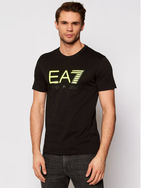 EA7 Emporio Armani EA7 Emporio Armani T-Shirt 6HPT81 PJM9Z 1200 Czarny Regular Fit
