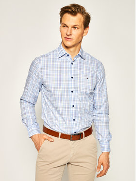 Tommy Hilfiger Tailored Tommy Hilfiger Tailored Košile Check Classic Shirt TT0TT06824 Modrá Regular Fit