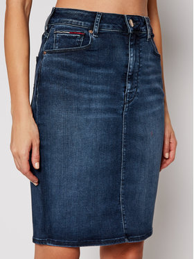 Tommy Jeans Tommy Jeans Jupe en jean DW0DW09173 Bleu marine Regular Fit