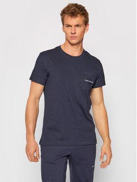 Calvin Klein Jeans Calvin Klein Jeans Tričko J30J319098 Tmavomodrá Regular Fit