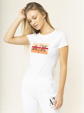 Armani Exchange Armani Exchange T-Shirt 3HYTEA YJ16Z 1000 Biały Slim Fit