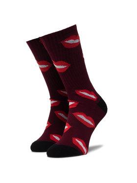 HUF HUF Ponožky Vysoké Unisex Kisses Sock SK00463 r.OS Bordová