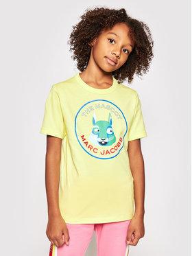 Little Marc Jacobs Little Marc Jacobs T-shirt W25464 S Žuta Regular Fit
