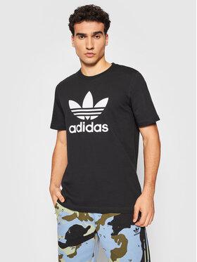 adidas adidas Marškinėliai adicolor Classics Trefoil Tee H06642 Juoda Regular Fit