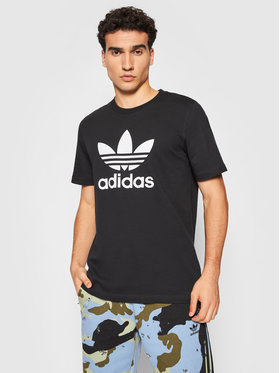 adidas adidas T-Shirt adicolor Classics Trefoil Tee H06642 Czarny Regular Fit