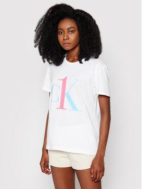 Calvin Klein Underwear Calvin Klein Underwear Marškinėliai Lounge 000QS6436E Balta Regular Fit