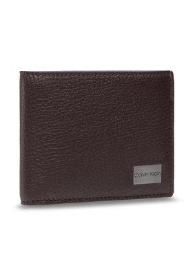 Calvin Klein Calvin Klein Nagyméretű férfi pénztárca Bifold 5cc W/Coin K50K506391 Barna