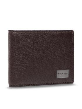 Calvin Klein Calvin Klein Velká pánská peněženka Bifold 5cc W/Coin K50K506391 Hnědá