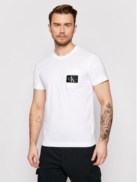 Calvin Klein Jeans Calvin Klein Jeans Тишърт J30J318088 Бял Regular Fit