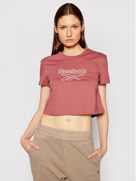 Reebok Reebok T-Shirt Classics Foundation Big Logo GP2147 Różowy Regular Fit