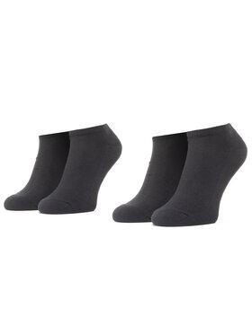 Levi's® Levi's® Súprava 2 párov kotníkových ponožiek unisex 37157-0216 Čierna
