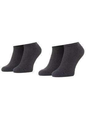Levi's® Levi's Σετ 2 ζευγάρια κοντές κάλτσες unisex 37157-0216 Μαύρο