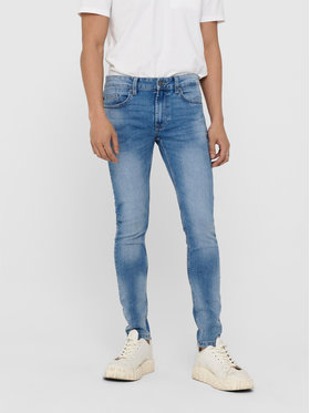 Only & Sons ONLY & SONS Traperice Warp 22018252 Plava Skinny Fit