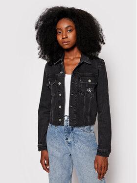 Calvin Klein Jeans Calvin Klein Jeans Kurtka jeansowa J20J216492 Czarny Cropped Fit