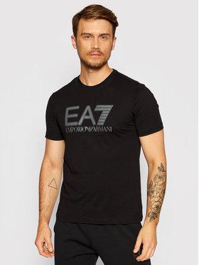 EA7 Emporio Armani EA7 Emporio Armani T-Shirt 6KPT81 PJM9Z 1200 Czarny Regular Fit