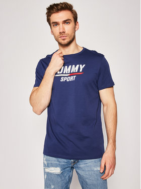 Tommy Sport Tommy Sport Marškinėliai Printed Tee S20S200442 Tamsiai mėlyna Regular Fit