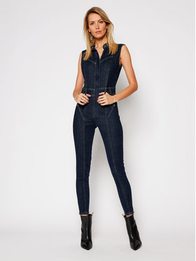 Guess Guess Kombinezonas Kristy W1RD49 D4AK2 Tamsiai mėlyna Slim Fit