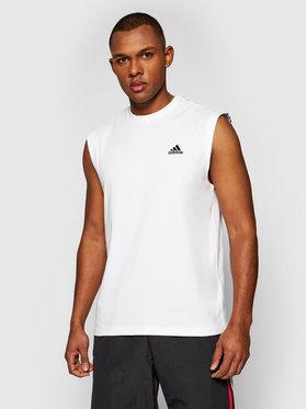 adidas adidas Tank top marškinėliai M Fi GP9517 Balta Regular Fit